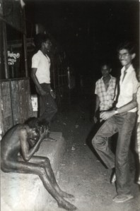 Soon before Tamil Youth was burnt at Borella bus stand